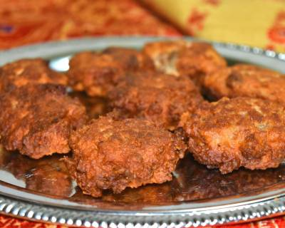 Narikol Pitha Recipe - Sweetened Coconut Fritter
