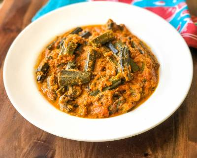 Bhindi Masala Gravy Recipe - Ladies Finger In Tomato Onion Gravy