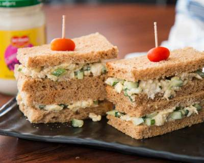 Creamy & Delicious Egg Mayo Sandwich Recipe - Kids Recipes Made With Del Monte