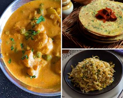 Kids Lunch Box Menu Plan-Spiced Cabbage Rice, Amritsari Gobi Matar, Fusilli Pasta & More