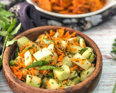 Vellarikka Kosumalli Recipe- South Indian Style Cucumber Salad