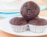 Eggless Rich Chocolate Banana Muffins Recipe-Vegan Options
