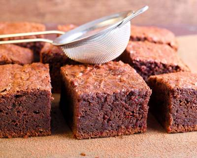 Eggless Beetroot Brownie Recipe Made With Amaranth Flour