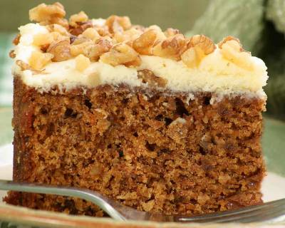 Eggless Spiced Carrot Olive Cake Recipe