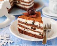 Eggless Layered Chocolate Cake Recipe With Mascarpone Cheese