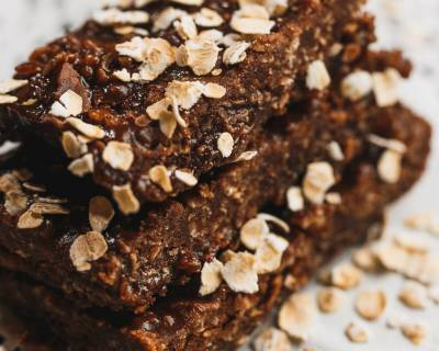 Eggless & Gluten free Oats Banana Brownie Recipe