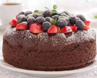 Eggless Easy Chocolate Cake Recipe - Vegan Option