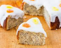 Eggless Lemon Poppy Seed Cake Recipe -Vegan Option