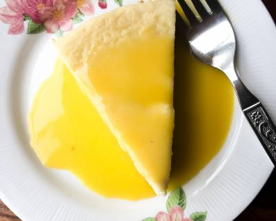 Classic Cheesecake Recipe With Lemon Curd Made Using Preethi Electric Pressure Cooker