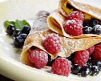 Finger Millet Crepe Recipe with Fruits