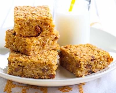 Pumpkin Oatmeal Breakfast Bar Recipe