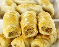 Baklava Rolls Recipe - Turkish Sweet Rolls