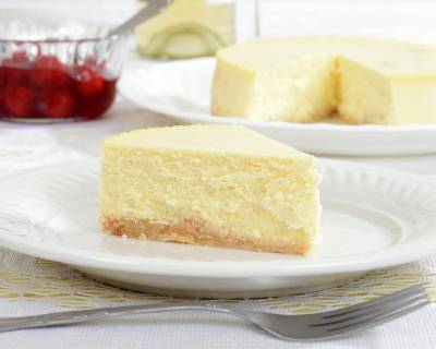 New York Style Baked Cheesecake Recipe