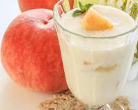 Peach Lassi Recipe - Peach Yogurt Smoothie