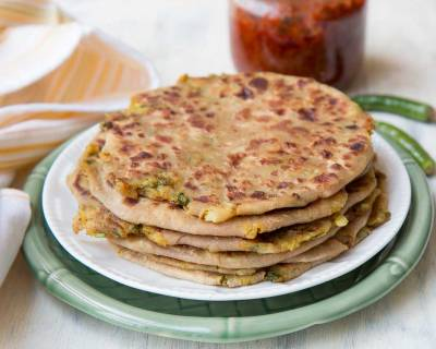 Punjabi Aloo Paratha Recipe - Healthy North Indian Breakfast
