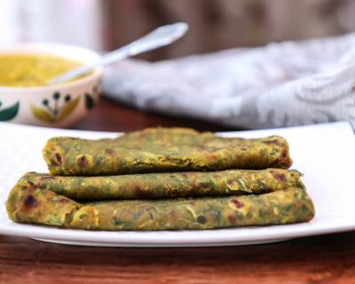 Palak Paratha Recipe-Spiced Spinach Flatbread