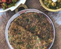 Palak Ragi & Oats Wheat Thepla Recipe - Healthy Diabetic Roti