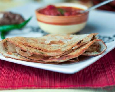 Moong Dal Chilla Recipe (Spiced Lentil Crepes)