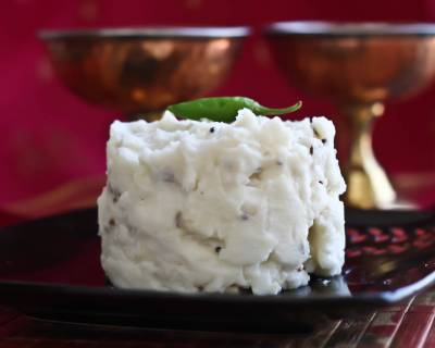Mor Kali (Kazhi) Recipe (Savory Rice Flour Breakfast Pudding)