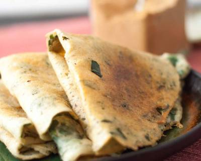 Murungai Keerai/Drumstick Leaves Adai Recipe