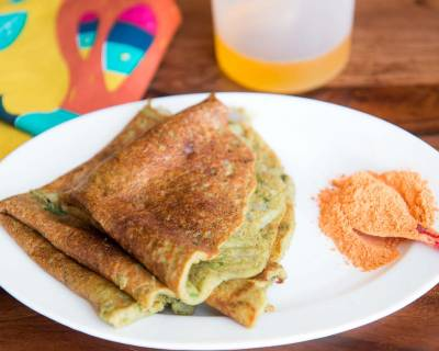 The Oat and Green Moong Dal Pesarattu-Savory Lentil Crepe Recipe