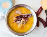 Pumpkin Dal with Garlic Tadka Recipe