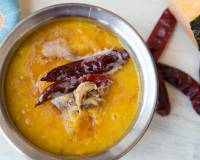 Lahsuni Dal Tadka -Moong Dal with Pumpkin