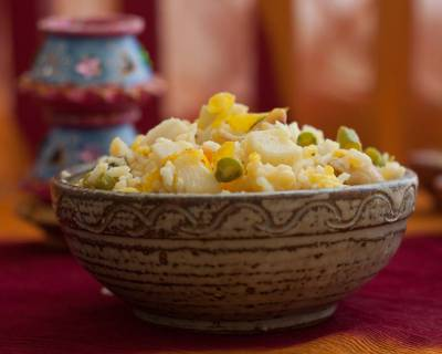 Gujarati Batata Pulao Recipe - Sweet And Spicy Pulao With Lentils And Potatoes