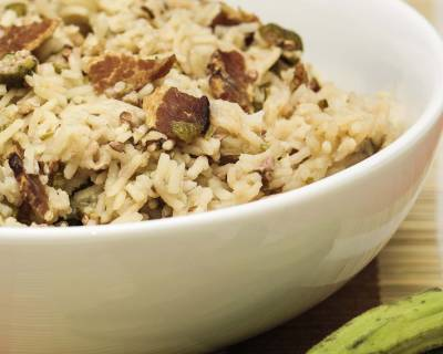 Chettinad Vendakkai Saddam Recipe (Spicy Okra Rice)