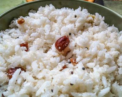 Thengai Sadam Recipe (A Quick and Healthy Coconut Rice)