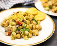 Kabuli Chana Chaat - High Protein Snack of Chickpea Chaat