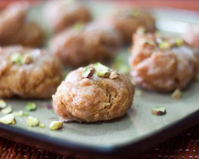 Badusha/Balushahi Recipe (Sweet Indian Doughnut)