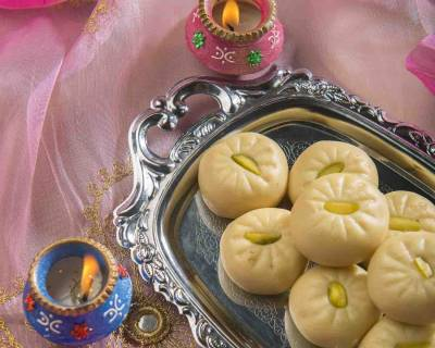 Homemade Doodh Peda Recipe - Milk Peda