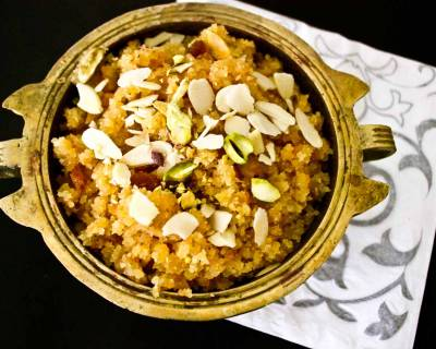 Moong Dal Halwa Recipe (A Low Calorie Version)