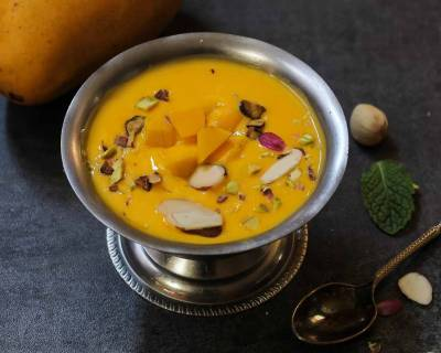 Mango Phirni Recipe - Mango Rice Pudding Recipe