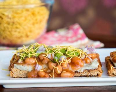 Baked Beans & Potatoes Chaat Recipe