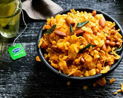 Diwali Cornflakes Mixture Recipe - A Savory Evening Tea Snack
