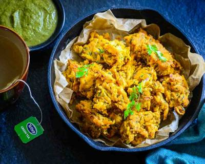 Pan Fried Onion Pakora Recipe - A Perfect Diwali & Evening Snack