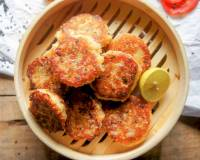 Sesame Bread Patties Recipe (Bread Cutlets)