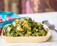 Aloo Palak Sabzi Recipe - Sautéed Potatoes With Spinach