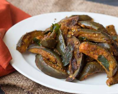Kathirikai Podi Curry Recipe (Roasted Brinjal with Spices)