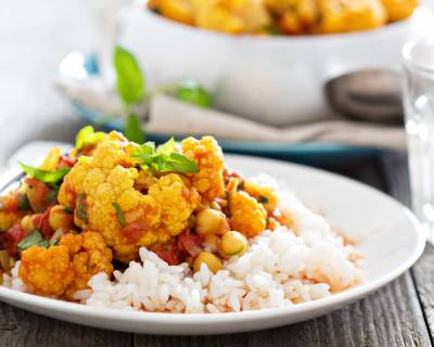 Tandoori Chickpea & Cauliflower Curry Recipe (Vegan Curry)