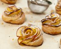 Apple Roses Recipe With Homemade Puff Pastry Sheets (Eggless)