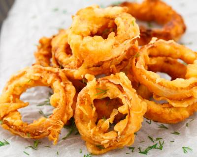 Spicy Indian Style Onion Rings Recipe