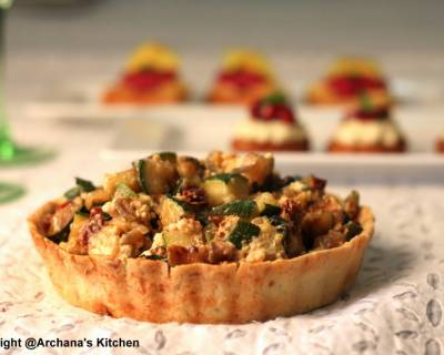 Roasted Vegetable Pesto Tart Recipe