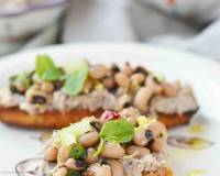 Black Eyed Bean Lemon Bruschetta Recipe