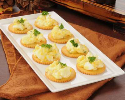 Herbed Egg Canapé Recipe with Dijon Mustard