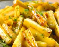 Stir Fried Honey Parsnip Recipe With Herbs
