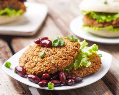 Triple Bean Vegetarian Cutlet or Patty Recipe