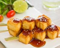Grilled Tofu in Spicy Plum Barbecue Sauce